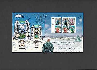 2007 Christmas Miniature Sheet Phil Stamp Official FDC. 1 of 100 covers