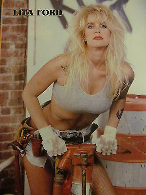 Lita Ford, Ozzy Osbourne, Double Full Page Vintage Pinup