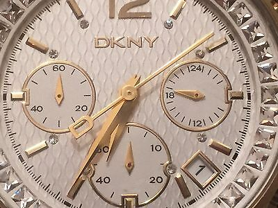 Dkny Watch Ladies Chronograph Ny4360 Gold & Steel