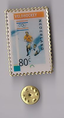 Olympic Games pin badge Field Hockey Stamp Shape
