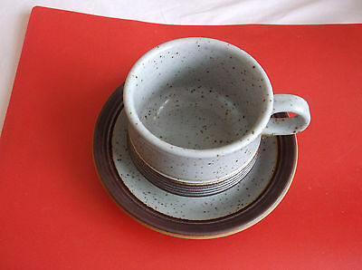 Purbeck Pottery  Portland  Cup    And Saucer   (A)