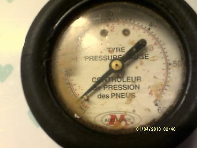 Vintage Tyre Pressure Gauge Accu Gage Old Tyre Gage In Working Condition