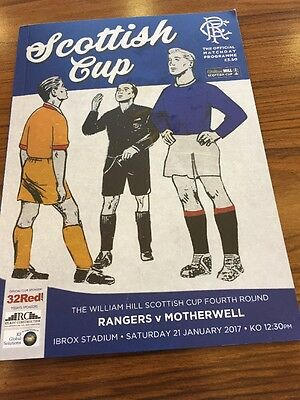 Rangers V Motherwell 21st January 2017 Scottish Cup