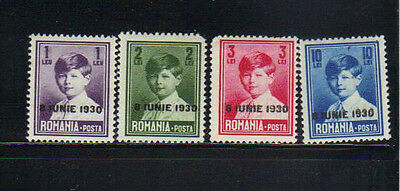 Romania 4 MLH stamps with overprint