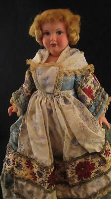 Early French Petitcollin Celluloid Jointed Costume Doll * Circa 1920s