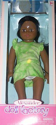2013 Madame Alexander Doll Factory 18 Inch Doll in Brown and Green New In Box