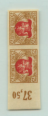 Lithuania, 1919, SC 57a, MNH, imperf, pair. rta3230