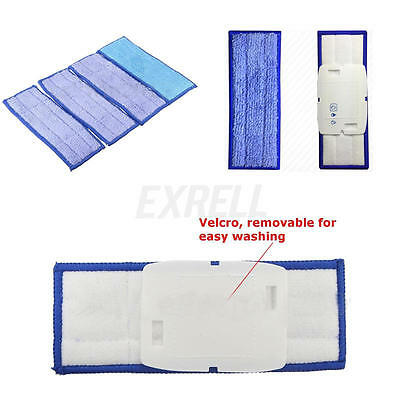4Pcs Washable Wet Mopping Pads Replacment Damp & Dry for iRobot Braava Jet 240