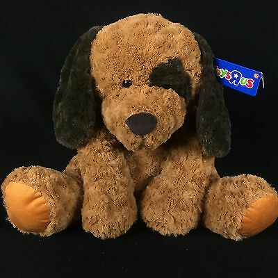 """Toys R Us Large Plush Brown Dog 2013 Soft Fluffy Puppy 23"""" Baby Safe NWT"""
