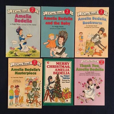 Lot of 6 Children's Books Peggy Parish Herman Parish: Amelia Bedelia Series
