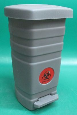 Generic Biohazard Trash Can Gray PLASTIC Footpedal Foot Pedal