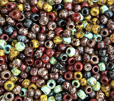 6/0 Toho Hybrid Opaque Mixed Picasso Glass Seed Beads 10-Grams New Arrivals