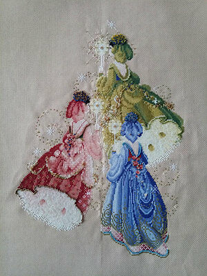 New Finished Completed Cross Stitch - Dream Angels - P188
