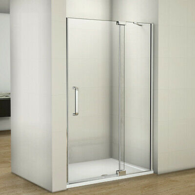 Frameless Pivot Hinge Shower Door Enclosure & Tray 8mm NANO Glass Screen Cubicle