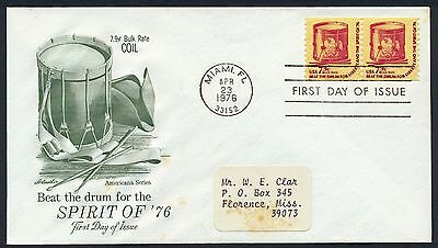 UNITED STATES OF AMERICA 1976 FIRST DAY COVER FDC USA #a407 MIAMI CANCEL!