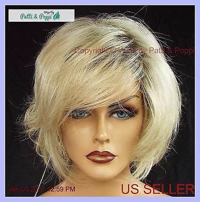 Designer Wig  *rooted Light Blond ✮ Adorable Tousled Bob Classy Timeless Style