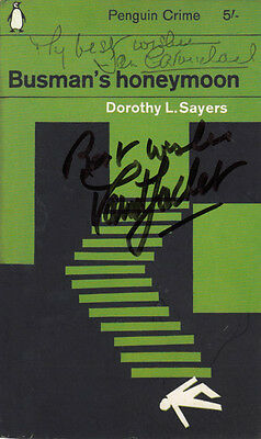Dorothy Sayers Busmans Holiday Penguin Book Classics Hand Signed Postcard