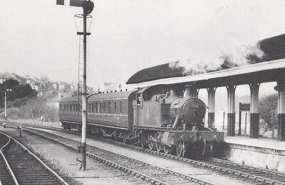 Engine 5538 Arriving at Falmouth Old Railway Station From Truro Railway Postcard