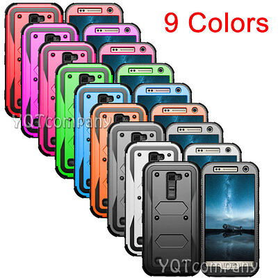 Lot of 9 For LG K7 Tribute 5 Hybrid ShockProof Rugged Protective Hard Case Cover