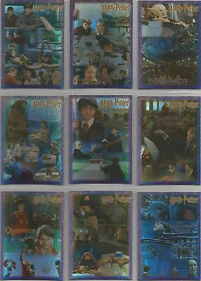 Harry Potter Sorcerer's Stone - 9 Card Holographic Foil Puzzle Chase Set #R1-9