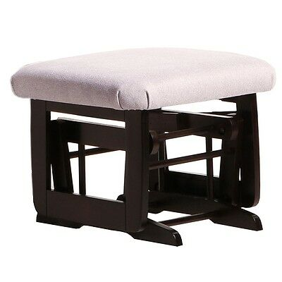 Dutailier Ultramotion Ottoman for Modern Glider- Espresso Finish and Light Grey