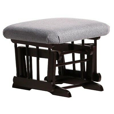 Dutailier Ultramotion Ottoman for Sleigh or 2 Post Glider- Espresso Finish and D