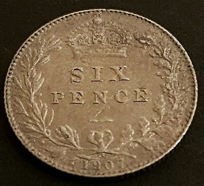 British - 1907 Edward VII  Sixpence