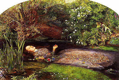 John Everett Millais :: Ophelia (Hamlet Shakespeare) :: 24 Inch Canvas Art Print