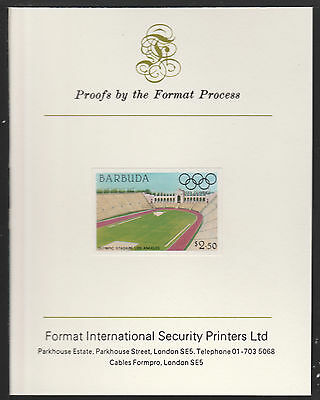 Barbuda (626) 1984 Olympics $2.50 imperf on Format International PROOF  CARD