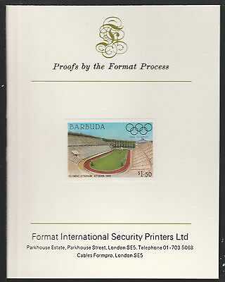 Barbuda (627) 1984 Olympics $1.50 imperf on Format International PROOF  CARD