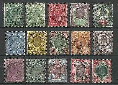 A Very Fine Basic Set of 15, 1902/13 De La Rue Issues.