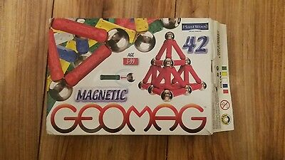 Geomag Magnetic World Rods & Spheres Boxed 42 Pieces 0004 Plast Wood
