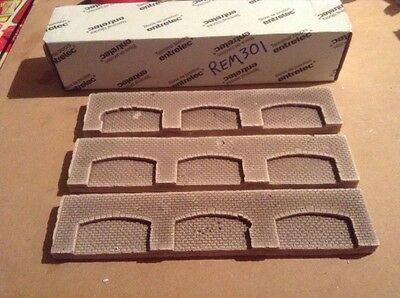 3x Arched Walling Sections N Scale N Gauge