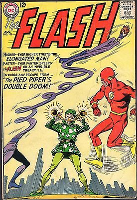 """The Flash # 138-1963-""""the Pied Piper's Double Doom!""""-Co-Starring Elongated Man!"""
