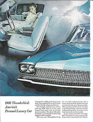 1966 Ford Thunderbird America'sPersonal Luxury Car Ad