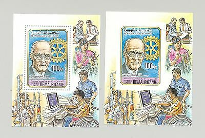 Mauritania 1984 Rotary, Handicapped, Chemistry 1v Deluxe S/S Perf & Imperf