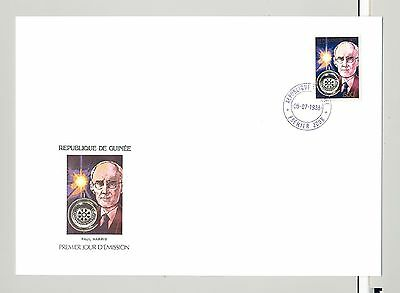 Guinea 1988 Rotary 1v Perf & Imperf on 2 FDC