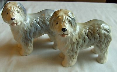 """Pair Of Old English Sheep Dogs Melba Ware China Figurines Height 5"""" X 5"""""""