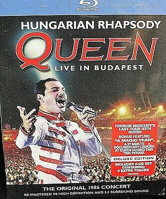 Queen - Live in Budapest NEW!  3-Disc Set, Blu-ray/2 CDs, Concert 1986 last tour