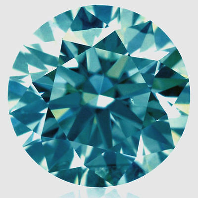 Genuine 1.00 tcw 6.50 mm  blue color loose moissanite round brilliant cut