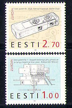 Estonia 1994 Europa/Camera/Mill/Patents/Photography/Inventions 2v set (n31069)