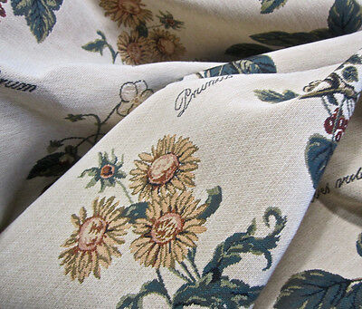 10+ yds XW Lee Jofa French Botanical Floral Tapestry Upholstery Drapery Fabric