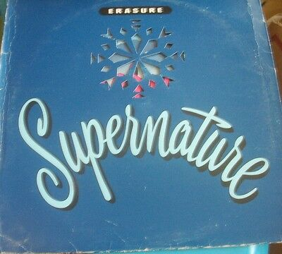 "12"" Vinyl Record Picture Cover Erasure Supernature 45Rpm"