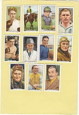 Gallaher Part Set 44/48.sporting Personalities. Cat£18.40. Issued 1936.