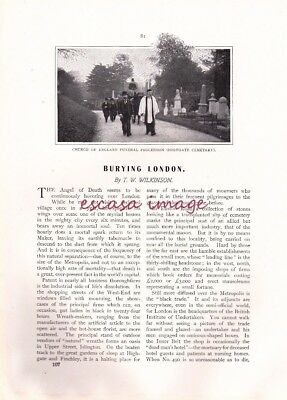 """BURYING LONDON - 7-page article from """"The London Magazine"""""""