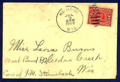 UNITED STATES-1909-Cover Horicon WI to Cedar Creek WI-#370 Stamp
