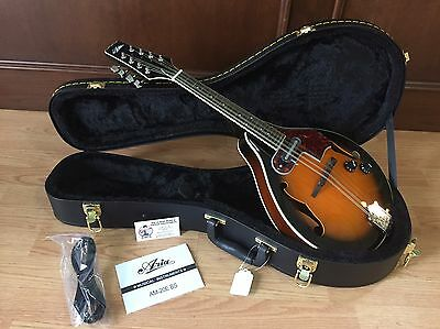 "NEW ARIA AM-20E BROWN SUNBURST ""A"" STYLE ACOUSTIC ELECTRIC MANDOLIN w/ HARD CASE"