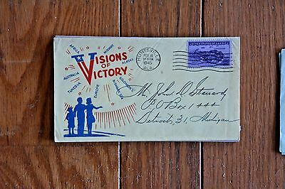 Ww2 World War 2 Patriotic Cachet Cover Visions Of Victory