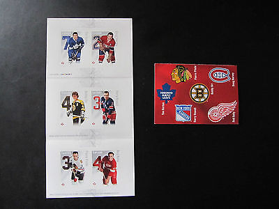 Lot of Two (2) - Canada Post 2014 NHL Hockey Stars Stamp set / MINT