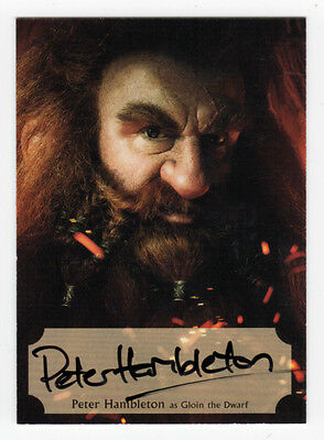 The Hobbit Desolation of Smaug PH-P Peter Hambleton 'Gloin' Poster Auto Card #53